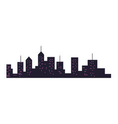 Modern city building skyline silhouette vector