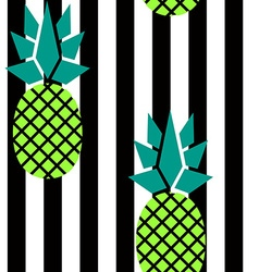 Modern stripes and pineapples pattern vector