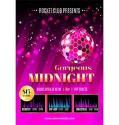 Night club flyer template vector image