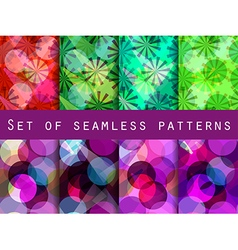 Seamless pattern of transparent geometric shapes vector
