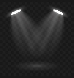 spotlights scene light effects stage light vector image