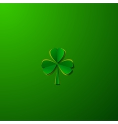 St Patricks day background with clover vector image vector image