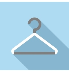 White coat hanger icon flat style vector image vector image