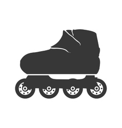 Roller skate shoe sport hobby icon graphic vector