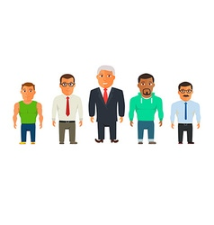 Business dressed and casual dressed people vector