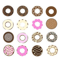 Donuts set vector image