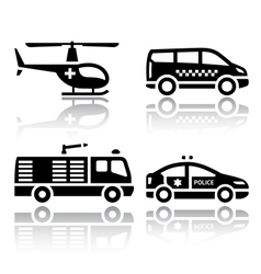 Set of transport icons - transport services vector