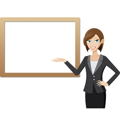 girl with whiteboard vector image