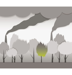 Smoke and contaminated environment vector