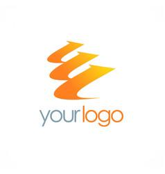 Arrow loop level logo vector