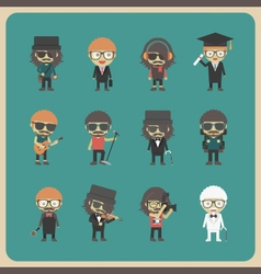 272all hipster character vector image vector image