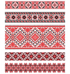 Ukrainian embroidery ornament vector image