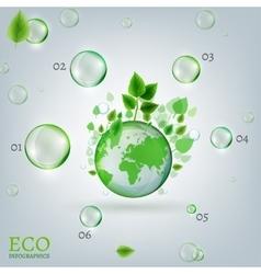 Infographics Bio Bubble vector image