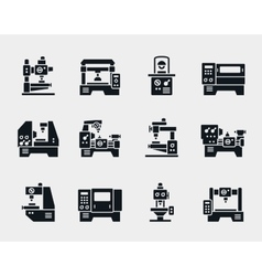 Machine tool icons set vector