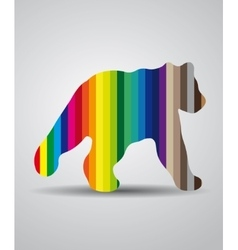 Colored logo bear vector