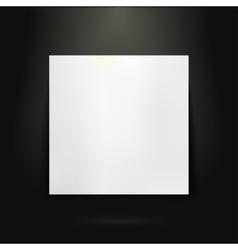 Blank presentation board in showroom vector image