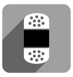 Plaster flat square icon with long shadow vector