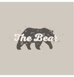Grizzly bear animal abstract scratched hipster vector