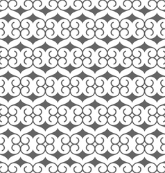 Seamless black and white pattern in arabic style vector