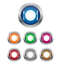 Restaurant buttons vector image