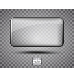 Glass transparent background vector