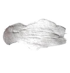 Silver metal foil glitter brush stroke stroke vector