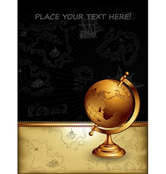 ancient globe vector image vector image