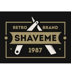 Barber shop vintage isolated label vector image vector image