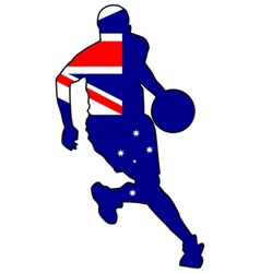 basketball colors of Australia vector image vector image
