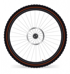 bike wheel vector image
