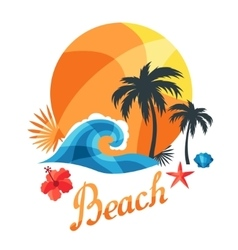 Bright travel or print for t-shirts vector image
