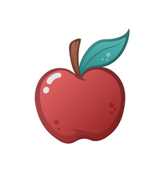 cartoon apple on the white background vector image vector image