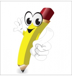 cartoon pencil vector image