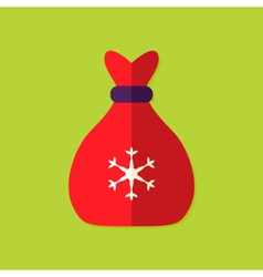 Christmas Bag Flat Icon vector image