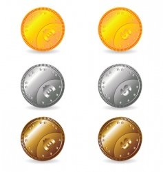 coins set vector image