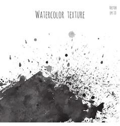 dark black watercolor texture vector image