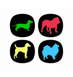 dog buttons vector image