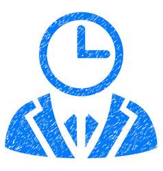 Duty person grunge icon vector
