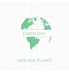 Earth Day Banner or Card Template vector image