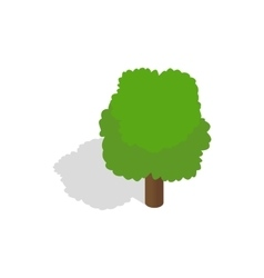Fluffy tree icon isometric 3d style vector