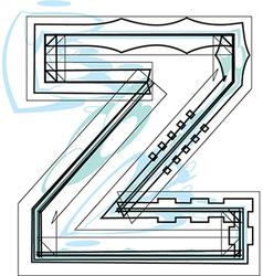 Font letter z vector image vector image