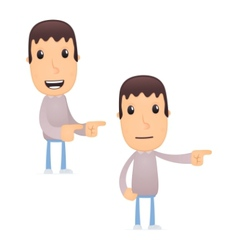 funny cartoon guy vector image vector image