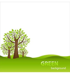 Green Background With Trees vector image