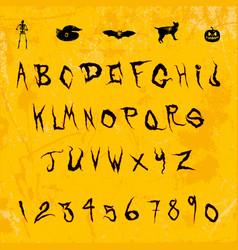 Halloween splash alphabet eps10 vector