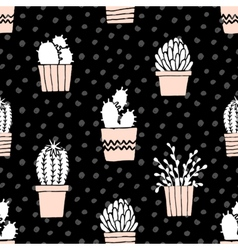 Hand Drawn Cactus Pattern vector image