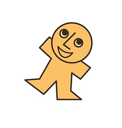 happy yellow man vector image vector image