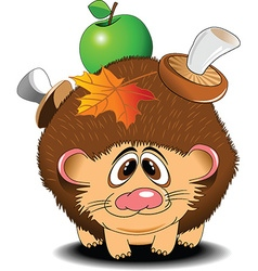 Hedgehog cartoon vector image