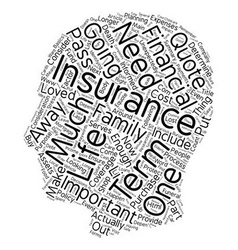 How much term life insurance should i buy text vector