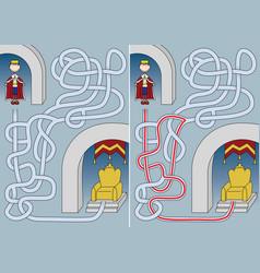 King maze vector