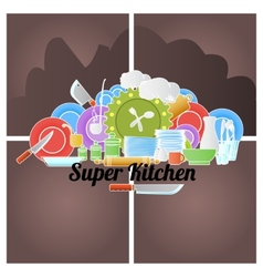 Kitchen logo vector image